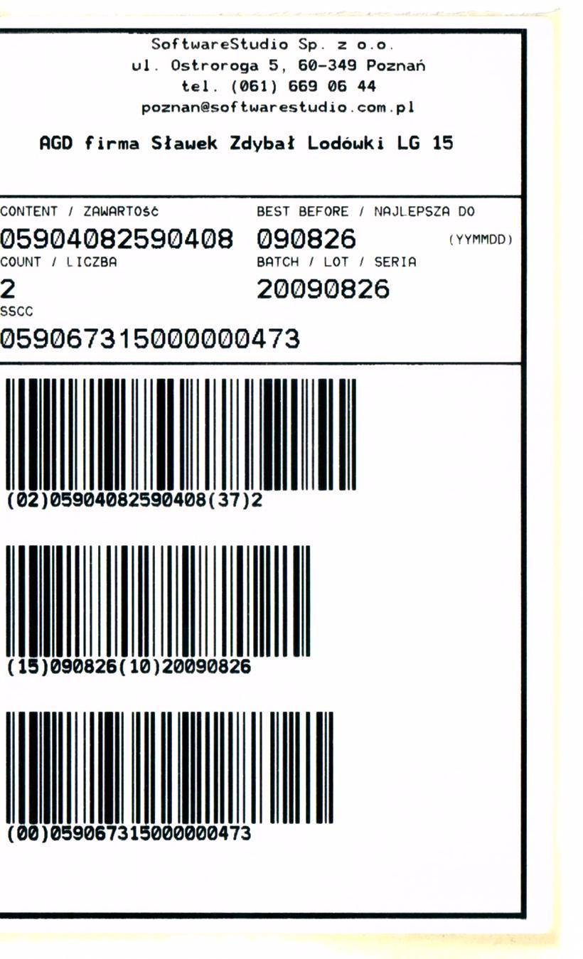 System WMS etykieta logistyczna