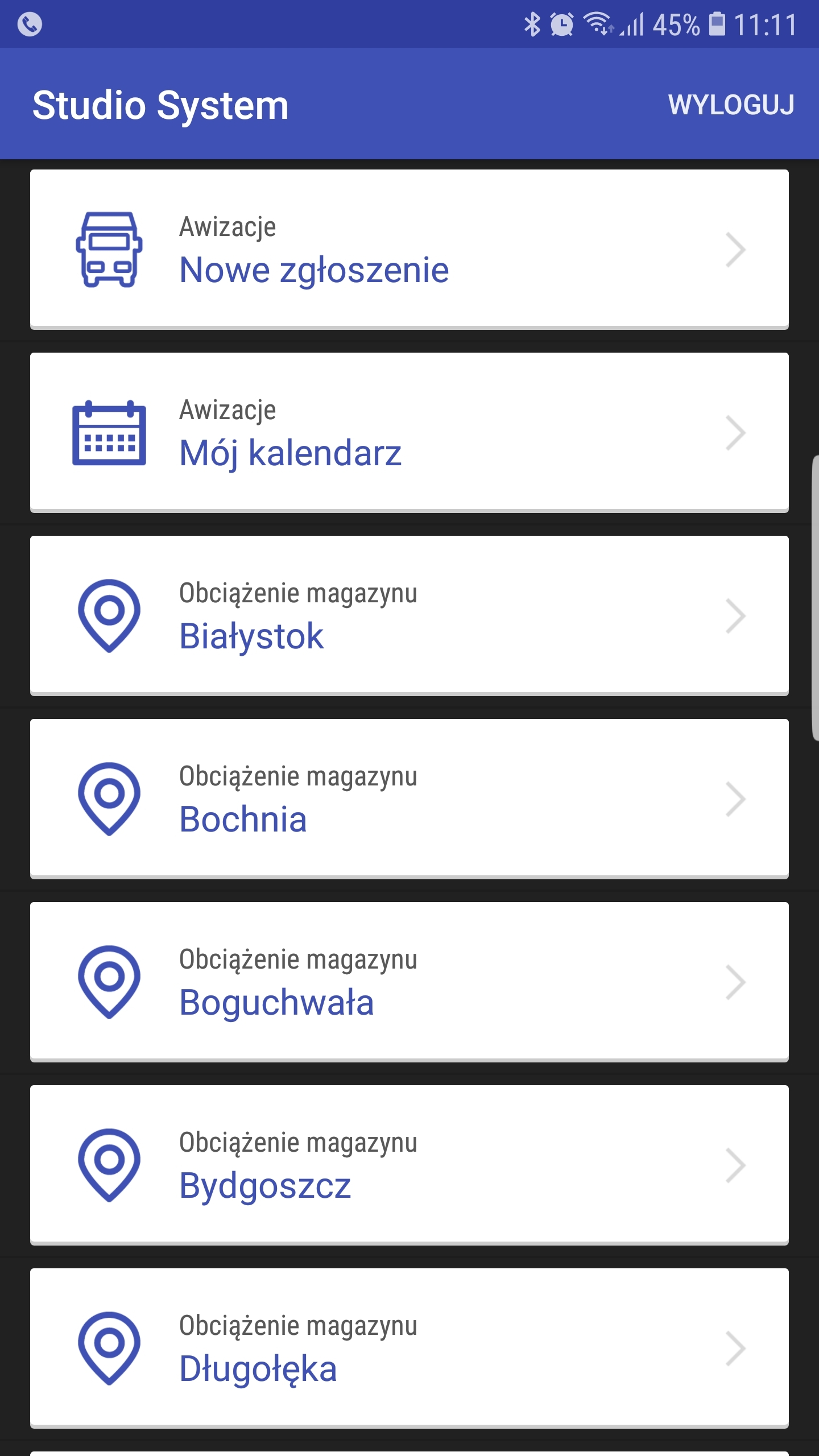 Awizacje Android