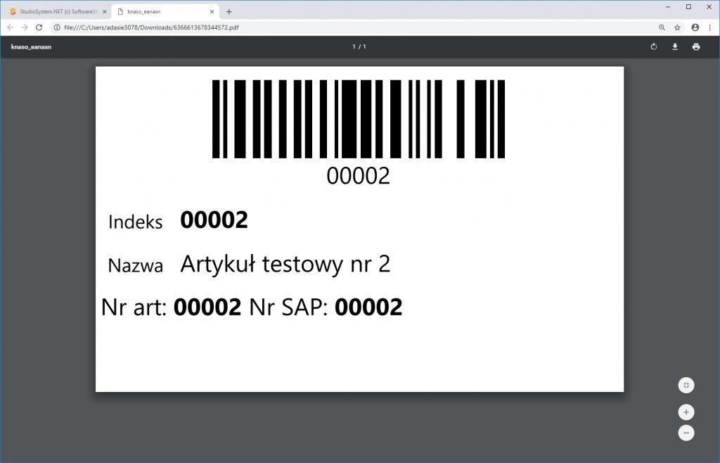 System WMS oprogramowanie magazynowe asortyment etykieta